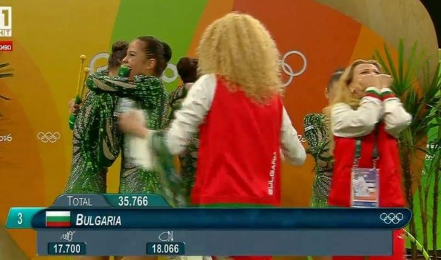 Bulgaria: Bulgaria with Bronze Medal after Impressive Performance in Rio Rhythmic Gymnastics