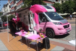 Bulgaria: Pink Camper on a Tour in 25 Cities in Bulgaria  to Help Women With Breast Cancer