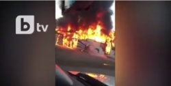 Bulgaria: Bus with Russsian Tourists  Engulfed in Flames on the Road