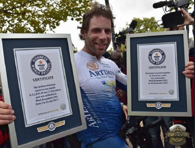 Cyclist Smashes Record, Mark Beaumont completes world record ride