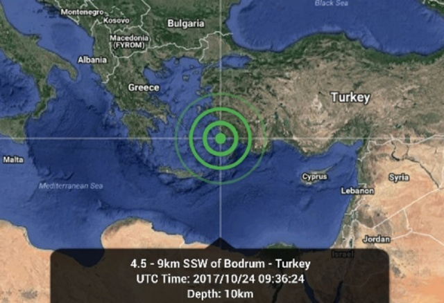Bulgaria: An Earthquake Measuring 4.6 on Richter Scale was Registered in Bodrum, Turkey
