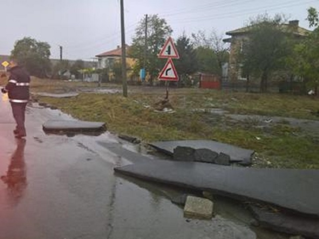 Bulgaria: Material Damage for Millions only on the Roads in Burgas (Photos)