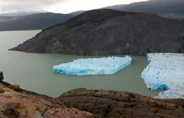 Bulgaria: A Large Iceberg Broke from the Gray Glacier near Chile