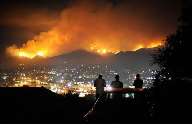 Bulgaria: The Fire near Los Angeles is Growing (Shocking Video)