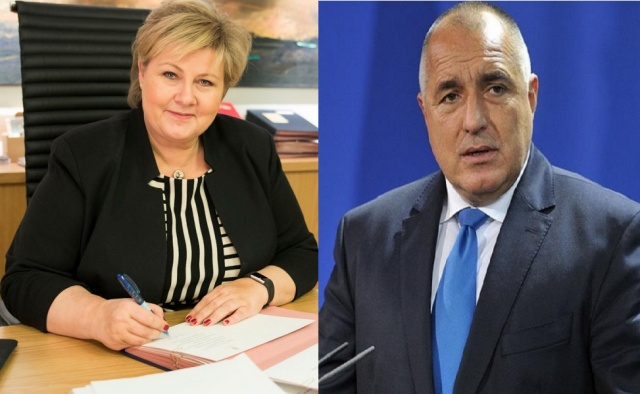 Bulgaria: Boyko Borisov will Meet with Prime Minister of Norway Erna Solberg