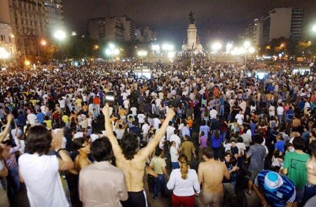 Bulgaria: Protests in Argentina Against Globalization