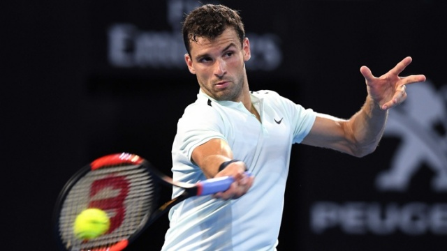 Bulgaria Grigor Dimitrov Saved Two Match Balls for a Success in his First Game for the Year