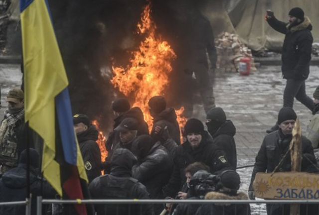 Bulgaria: Clashes in Kiev Between Protesters and Police