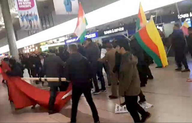 Bulgaria: Kurds and Turks had a Mass Fight at an Airport in Germany (Video)