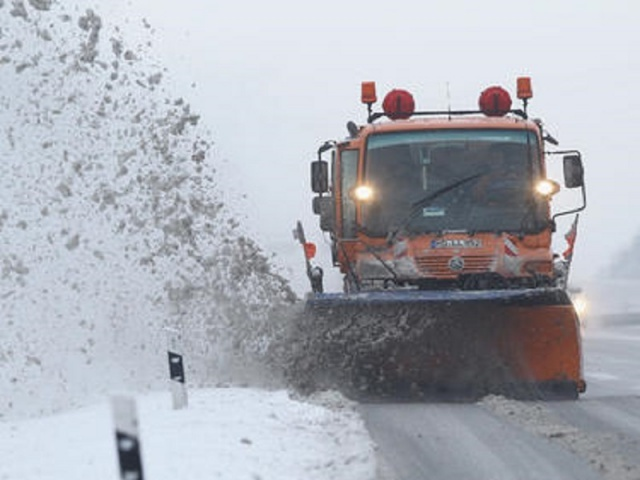 Bulgaria: 182 Snow-Cleaning Machines  Are Cleaning the Roads in Sofia. The Movement is Difficult