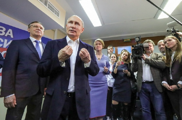 Bulgaria: Vladimir Putin Wins Russian Elections with 76.65% of the Votes