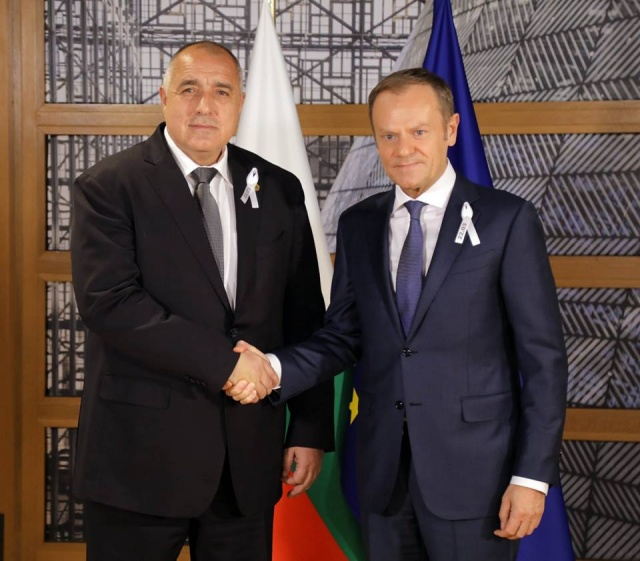 Bulgaria: Prime Minister Boyko Borissov Тalks with EU President Donald Tusk