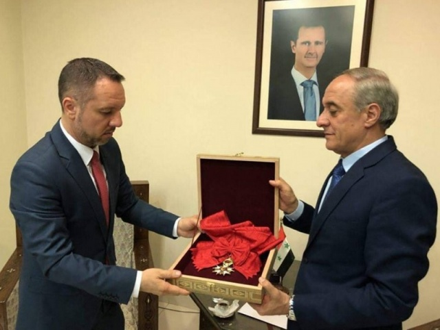 Bulgaria: Bashar Assad Returns Legion d'honneur to France