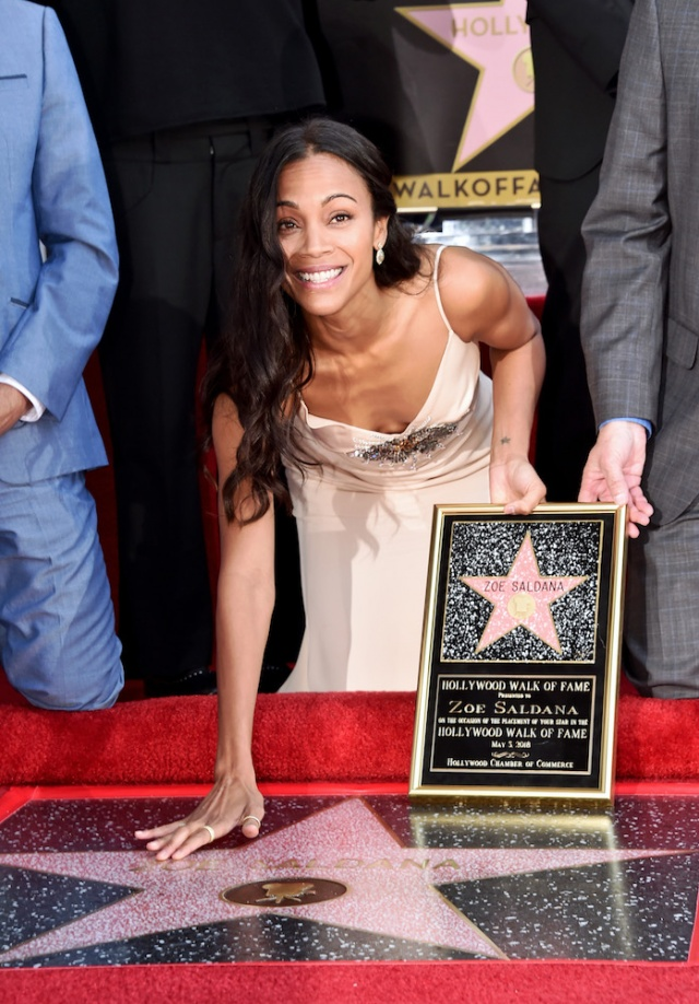 Bulgaria: Zoe Saldana From Avengers: Infinity War Received a Star on the Hollywood Walk of Fame