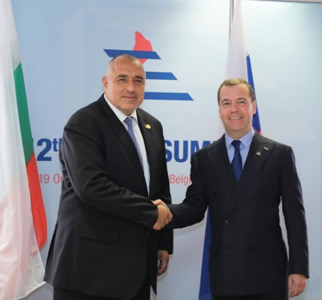 Bulgaria: Bulgarian PM Borisov and Russian PM Medvedev Discuss Energy Topics in Brussels