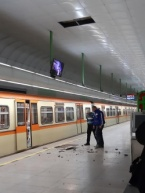 """Falling Cladding from the Ceiling of Metro Station """"West Park"""" almost Injures People"""