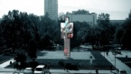 """The """"One Person"""" Figure with 56 Screen, 12 Meters High, can Replace the """"Bronze House"""""""