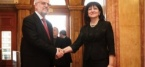 Bulgarian Speaker of Parliament Talks With Talat Jaferi at the National Assembly