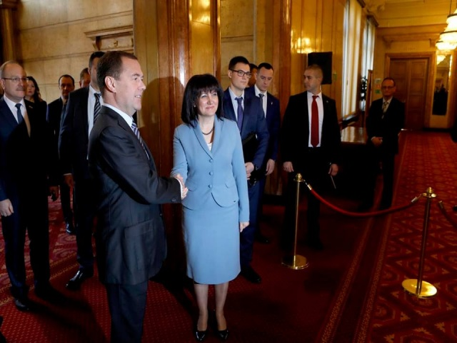 Bulgaria: Dmitry Medvedev Met with Speker of Bulgarian Parliament Tsveta Karaiancheva