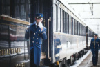 The Legendary Orient Express Train Stops at the Station in Bulgarian City of Ruse (VIDEO)