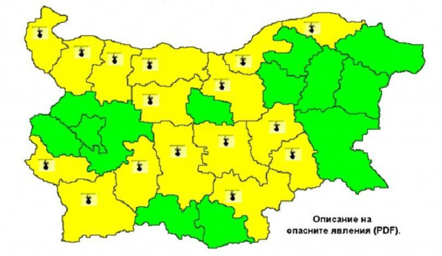 Hot Weather Alert Issued for 16 Districts in Bulgaria for August 8