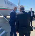 Bulgaria's PM Borissov Arrives in Athenes Where Will Be Signed the Contract for Gas Terminal Near Alexandroupolis