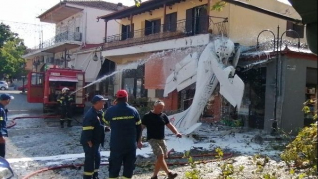 Bulgaria: Light Airplane Crashed Into a Building in Northern Greece