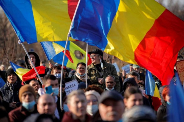 Bulgaria: Thousands Rally against Anti-Covid Restrictions in Bucharest