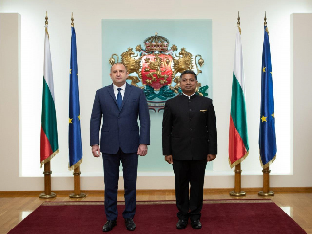 Bulgaria: Ambassador of IndiaPresented Credentials to President of Bulgaria
