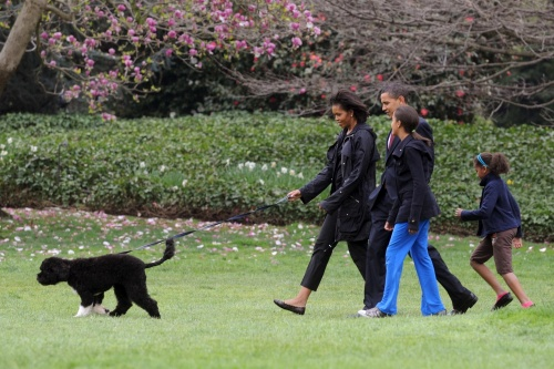 In pictures: US President Barack Obama (C), First Lady