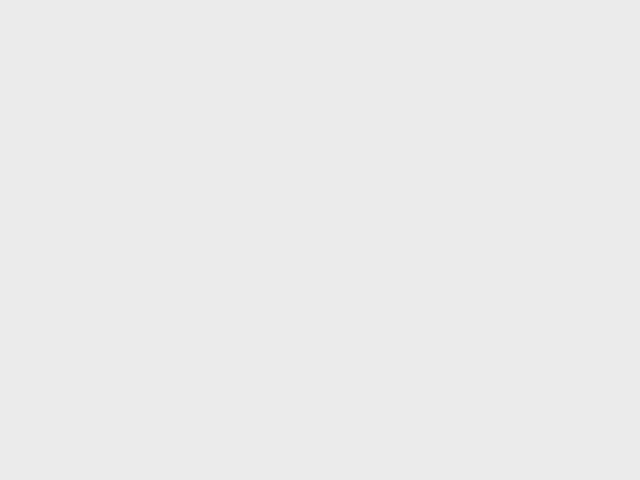 Traffic <b>police</b> taking part in a <b>protest</b> in Ragzrad, Northeastern Bulgaria. Photo BGNES